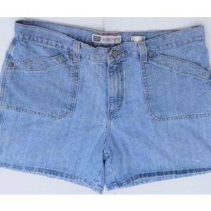 Faded Glory Plus Sz 16 Jeans Shorts High Waist